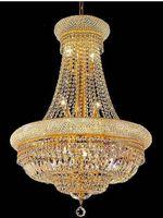 luzes do império venda por atacado-Império Francês Candelabro De Cristal De Ouro Chrome Lustres Iluminação Moderna Lustres de Luz + Frete grátis!