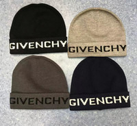 Wholesale skull caps for men resale online - Newest design TOP quality embroidery women men Winter Hat Winter Beanies Keep warm Knitted Hat For Boy Girl