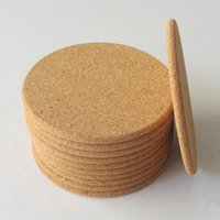 Wholesale gift for wedding wine for sale - Group buy 500pcs Classic Round Plain Cork Coasters Drink Wine Mats Cork Mats Drink Wine Mat Ideas for Wedding Party Gift RRA2303