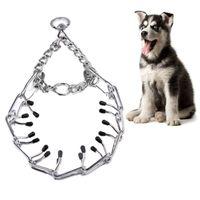 toka köpek yaka toptan satış-Ayarlanabilir Pet Köpek Prong Yaka Profesyonel Dişli Eğitim Yaka Metal Tutuşunu Yapış Toka ile Choke Tutam Ağır Chaing Aracı