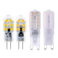 g4 lâmpadas ac dc venda por atacado-G4 G9 Lâmpada LED 3 W 5 W Mini Lâmpada LED AC 220 V DC 12 V SMD2835 Holofotes Lustre de Iluminação de Alta Qualidade Substituir Lâmpadas de Halogéneo