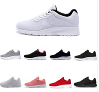 zapatos para correr londres al por mayor-2019 Venta caliente Tanjun Run Running Shoes hombres mujeres negro bajo Ligero transpirable London 3.0 Olympic Sports Sneakers Trainers tamaño 36-45