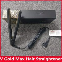 Hot V Gold Max Hair Straightener Classic Professional styler Fast Hair Straighteners Iron Hair Styling tool Good Quality