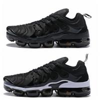calçado para senhora venda por atacado-Nike Vapormax air max airmax TN Plus Das Mulheres Dos Homens Tênis de Corrida Sneakers Corredores Chaussure Reverter Pôr Do Sol Legal Cinza Triplo Branco Ser Verdadeiro