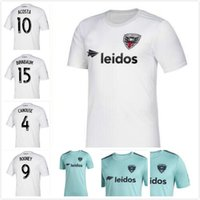 jerseys de fútbol unidos al por mayor-NUEVO 2019 2020 MLS Washington DC United camisetas de fútbol # 9 ROONEY D.C. United camiseta blanca de fútbol de visitante 19 20 # 10 Uniforme de fútbol ACOSTA