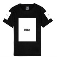 t quadratisches drucken großhandel-HipHop HBA Square Print Mode Mann Kleidung Designer Getäfelten Straßen Herren T-Shirt Hemme Casual Breathable Tees