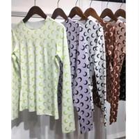 collants demi femmes achat en gros de-Nouvelle Marine Serre Bottoming Shirt Femmes 1a: 1 Meilleure Qualité 6 couleurs Vente Chaude Collants Demi-lune T-shirts Tees Marine Serre T-shir