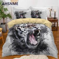 juegos de cama queen para niños al por mayor-AHSNME Tiger Bedding Set Boy Funda nórdica Sets Animal King Edredón Fundas Dormitorio Regalo Dropshipping