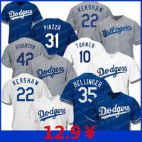 machado jersey venda por atacado-Camisolas Dodgers 35 Cody Bellinger Los Angeles 22 Clayton Kershaw 5 Marger Hernandez 10 Justin Turner Manny Machado 31 Mike Baseball Piazzato