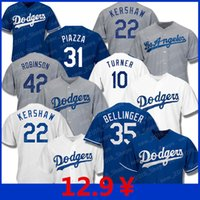 machado trikot großhandel-Dodgers Trikots 35 Cody Bellinger Los Angeles 22 Clayton Kershaw 5 Seager Hernandez 10 Justin Turner Manny Machado 31 Mike Baseball Piazzato