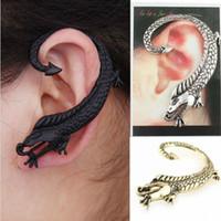 ingrosso orecchini del polsino animale-Orecchini di polsino dell'orecchio di iperbole animale punk dell'annata Orecchini di clip di dichiarazione di metallo moda per gli uomini donne Oorbellen 1pcs