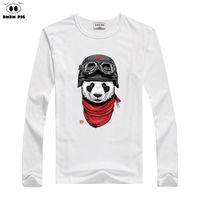 Wholesale panda clothing for baby boys resale online - Children Cartoon Panda Print T shirt Boy Girls Winter Long Sleeve Tee Tops Costume For Kids Clothing Baby Cotton T