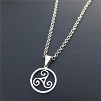 Wholesale teen wolf allison pendant for sale - Group buy stainless steel Teen Wolf Triskele Triskelion Allison Argent Pendant Stainless Steel triskele