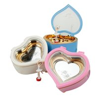 Wholesale ballet birthday party for sale - Group buy Cute Music Boxes Child Ballet Love Heart Mirror Eight Tone Box Fashion Exquisite With High Quality yl J1