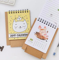 Calendar 2019 New Cute Cartoon Calendar Creative Desk Vertical Paper Multi-function Storage Box Timetable Plan Notebook Office & School Supplies