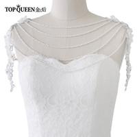 cadenas de joyas de hombro al por mayor-Venta al por mayor G05 cristal hechos a mano collar de hombro nupcial perla mujeres desfile de boda vestido de cadena de la joyería del hombro