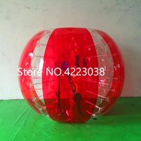 Wholesale inflatable bounce balls resale online - 1 m Plastic Balls Inflatable Bubble Soccer Ball Bumper Bubble Ball Bubble Football Rubble Bouncing Ball