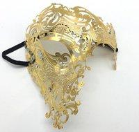 ingrosso spettacolo di nozze-Maschere di lusso in metallo veneziano Maschere tagliate al laser Mostra Masquerade Maschera Maschera facciale Maschera mascherata per Halloween