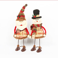 Wholesale toys for bedroom online - New Christmas gift for child Xmas christmas Decoration Santa claus action figure Snowman toys with spring legs for bedroom home Decoration