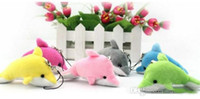 muñecas de tela de animales al por mayor-1600 unids venta caliente pequeño delfín colgante colgante del teléfono móvil bolsa colgante pequeño paño muñecas juguetes de peluche
