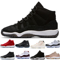 Wholesale womens size 11 shoes online - 11 s mens Basketball Shoes Concord Platinum Tint Prom Night gym red XI Bred womens trainers sports sneakers designer size