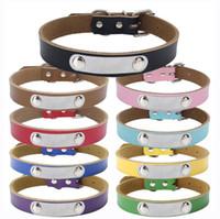 köpek boynu halkaları toptan satış-Kedi Köpek Deri Yaka Pet saf inek derisi pet boyun yüzük kalınlaşmış Pet köpek zincir çekiş aksesuarları AAA2246