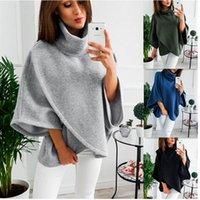 europäischer kleiderverkauf großhandel-Europäischen Und Amerika Neue Pullover Warme Fleece Mantel Frauen Hochwertigen Asymmetrische Dame Kleidung