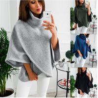 ingrosso abbigliamento donna america-Europa e in America nuovo maglione caldo pile mantello donne di alta qualità vestiti asimmetrici Lady vendita calda 23yda Ww