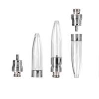 Wholesale cartridges bullets for sale - Group buy Innovative design Bullet E3 ml vape ceramic coil cartridge thick oil vaporizer pen thread tank with plastic tip mm oil hole