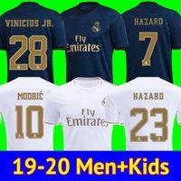xxl 18 großhandel-Fußball Trikots Real Madrid 19 20 Gefahr JOVIC MILITAO soccer jersey T-Shirt 2019 2020 kids VINICIUS JR ASENSIO Fußball Trikot Kinder MARCELO ISCO T-Shirt