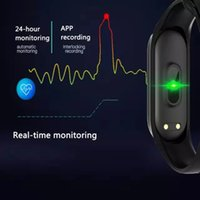 ingrosso mi orologio 4-M4 Smart band 4 Fitness Tracker Watch Braccialetto sportivo Frequenza cardiaca Pressione sanguigna Smartband Monitor Salute Polsino PK mi band 4