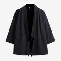 kimono ceketler artı boyutu toptan satış-Casual erkek CottonLinen ince Retro Kimono Ceket Çin tarzı Robe erkekler Katı renk gevşek Hırka Rüzgarlık artı boyutu 5XL