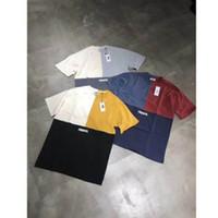 ingrosso maglietta di cotone del giappone-T-shirt KITH TREATS 2019 T-shirt KITH in cotone con patchwork TRI-BLOCK Uomo Donna 1k: 1 T-shirt top affusolata in Giappone