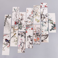 Wholesale paper book bookmarks resale online - 30pcs Flowers Birds Bookmarks Paper Page Notes Label Message Card Book Marker School Supplies Stationery