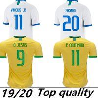 brezilya küpü toptan satış-2019 Brezilya Amerikan Kupası futbol takımı forması Brezilyalı erkekler jersey FIRMINO futbol forması kadın Dünya Kupası özel futbol gömlek