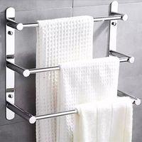 Wholesale ladder racks for sale - Group buy 60cm Length Stainless Steel Towel Ladder Modern Towel Rack Bars Bathroom Rack Layers Wall Mount Victor