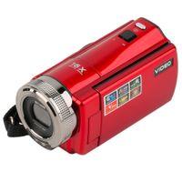 cámara portátil roja al por mayor-Cámara de video portátil 720P HD 16MP 16x Zoom 2.7 '' TFT LCD Videocámara de video digital Cámara DV DVR Negro Rojo