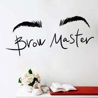 güzellik ustası toptan satış-Kaşları Kaş Master Wall Art Sticker Güzellik Salonu Vinil Çıkartmalar Çıkarılabilir Ev Dekor Oturma Odası Kızlar için Makyaj Çıkartmaları