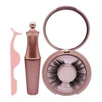 eye-liners naturels achat en gros de-cinq cils magnétiques avec eye-liner magnétique et pincettes pour cils prolongements de cils longs et épais