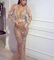 top kılıfı toptan satış-2019 yeni Abiye Yousef aijasmi Kat uzunluk Mavi Balo Boncuk Kristal Kılıf Zuhair murad Kylie Jenner kardashian