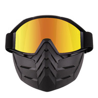 Wholesale full face goggles resale online - LumiParty Motocross Goggles Glasses Face Dust Mask with Detachable Motorcycle Mouth Filter goggles mask full frame r30