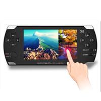 consola de jogos 4.3 venda por atacado-X8 4.3 polegadas touch screen 8 gb portátil consola de jogos com e-book tv out handheld muitos clássicos jogos grátis mp3 mp4 mp5 player