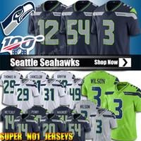 fan formaları toptan satış-49 Shaquem Griffin Jersey 3 Russell Wilson Jersey Seattle Jersey Seahawk Formalar 14 DK Metcalf Formalar Penny 54 Bobby Wagner 12. Fan
