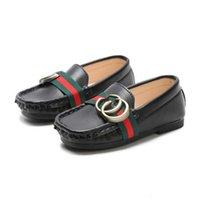 çocuklar moccasins toptan satış-Sıcak Bebek Ayakkabı Tekne Stil Bebek Moccasins Yürüyor PU Deri Kız Erkek Çocuklar Için Yumuşak Sole Ayakkabı Yenidoğan Toddlers Sneakers