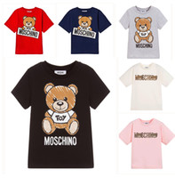camiseta de animal para niñas al por mayor-Camiseta de diseño para niños Camisetas con patrón de oso lindo Letras de lujo Niñas Tops Camiseta para niños activos Ropa para niños Venta al por mayor 6 estilos Camisetas nuevas en
