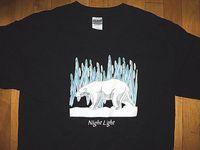 imágenes de camisas de color claro al por mayor-* POLAR BEAR Night Light Nunavut Canadá * NUEVO Imagen con el logotipo de la camiseta Camiseta de hip hop Lhoodie