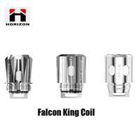 bobinas duales genuinas al por mayor-Auténtico Falcon King Coil Head M1 + 0.16Ohm M-Dual M-Triple 0.38Ohm Bobinas de malla para el atomizador de tanque original 100% genuino