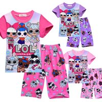 Wholesale kids summer clothes for sale - Group buy T shirt Pajama Set D color Printing New Cartoon Girls Short sleeve T shirt Shorts Suit Summer Children s Wear Kids Girl s Outwear Clothing