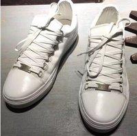 фирменные названия квартир оптовых-Новый Дизайнер Имя Марка Человек Повседневная Обувь Плоским Kanye West Мода Морщинистая Кожа на шнуровке