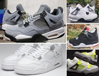 Wholesale coolest canvas shoes resale online - 2019 s Cool Grey Bred White cement Neon With Box Basketball shoes Men Women